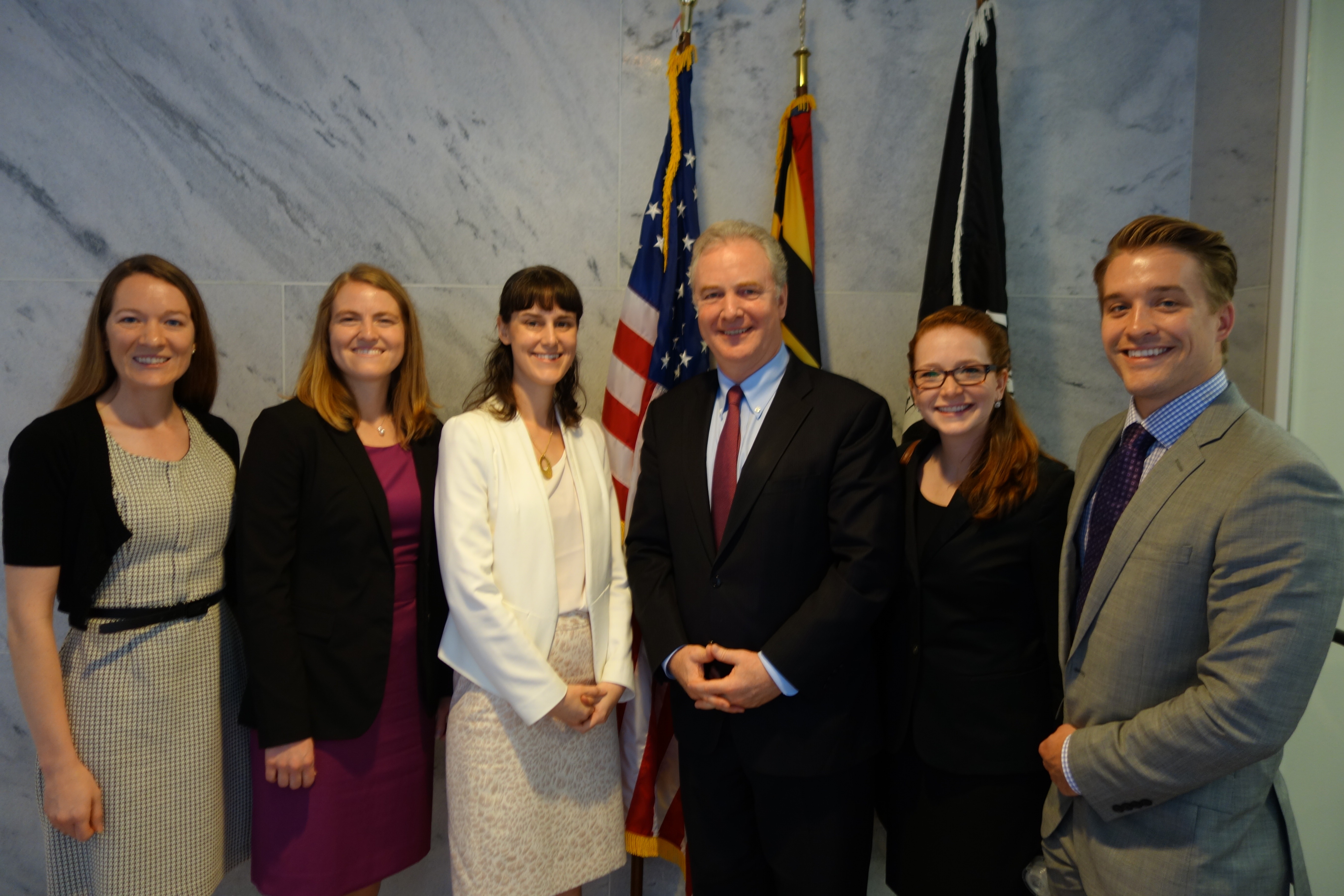 Congressional Visits Day with Senator Van Hollen, AIBS staff, and participants from Delaware, Rhode Island, and Maryland.