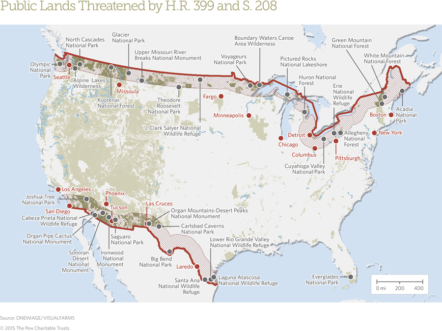 U S Public Lands Affected By The Border Bill