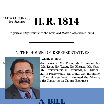 HR 1814  was introduced by Raul Grijalva (D - Arizona). Photo: govtrack.us